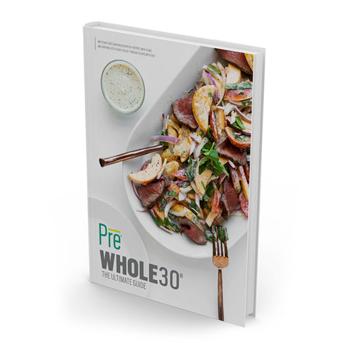 Pre Whole30 book with peach poppy seed steak photo