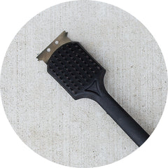 A black wire brush
