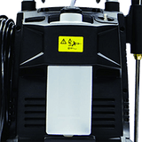 Rear view-AR 2000 PSI Electric Cold Water Pressure Washer Model AR390SS featuring detachable chemical tank