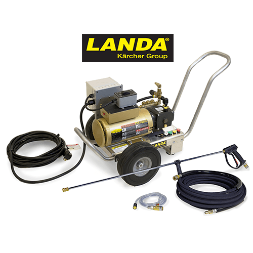 Landa 1350 PSI 1.8 GPM Electric Cold Water Auto Start-Stop Pressure Washer HD 1.8-1350 Ed with Accessories