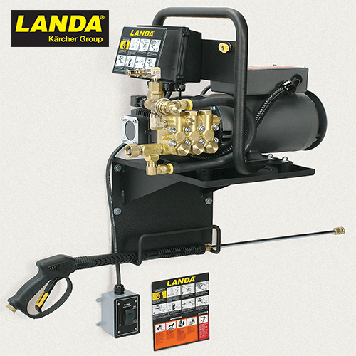 1400 PSI 1.8 GPM (Electric Cold Water) Landa Wall Mount Pressure Washer with Landa Pump ZEF2-14024D-WM