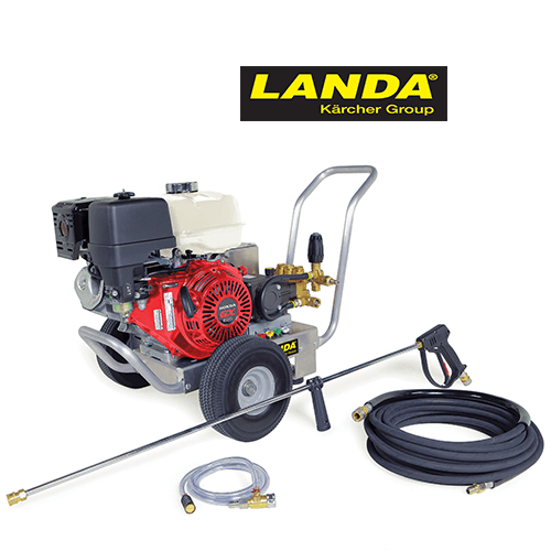 Landa HD Gas Cold Water Pressure Washer with Hose-Wand-Chemical Injector
