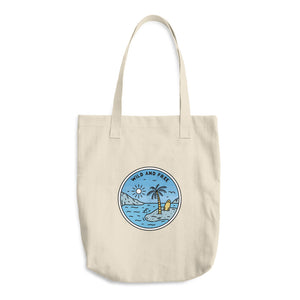 Wild And Free Woven Cotton Tote - Sea Through Love
