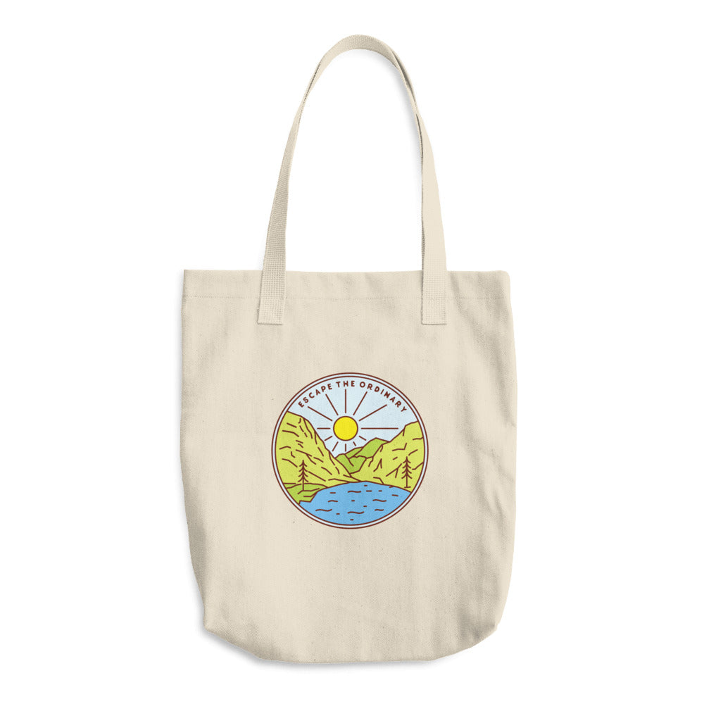 Escape The Ordinary Woven Cotton Tote - Sea Through Love