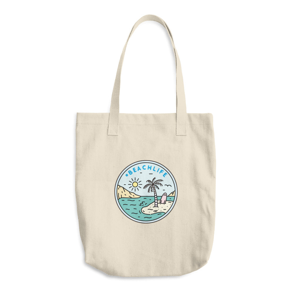 Beach Life Woven Cotton Tote - Sea Through Love