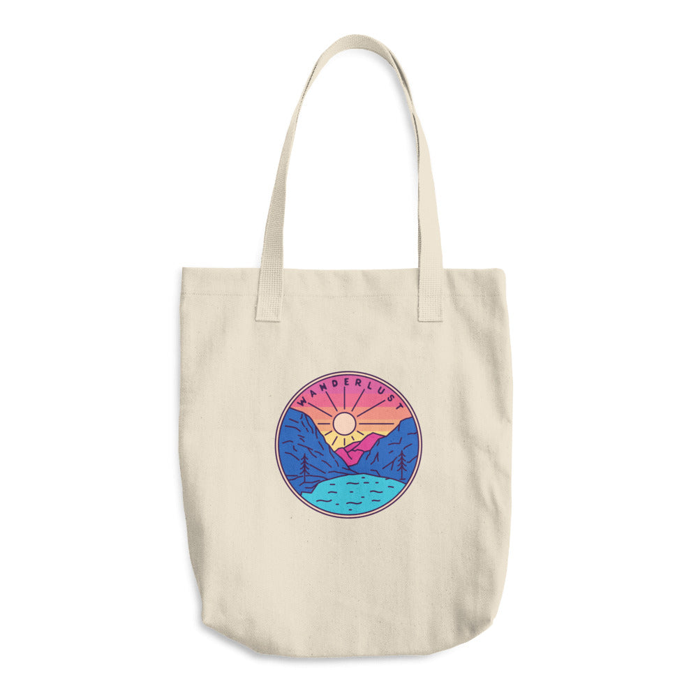 Wanderlust Woven Cotton Tote - Sea Through Love