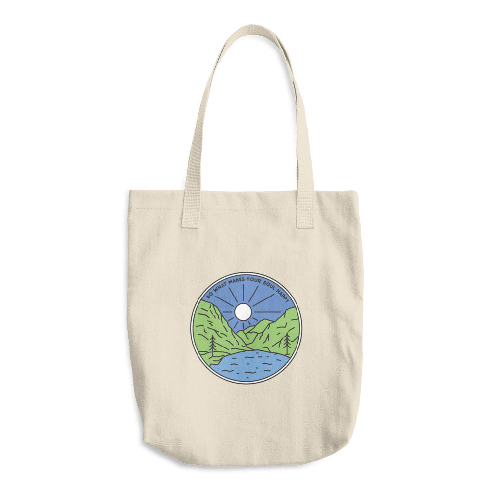 Do What Makes Your Soul Happy Woven Cotton Tote - Sea Through Love