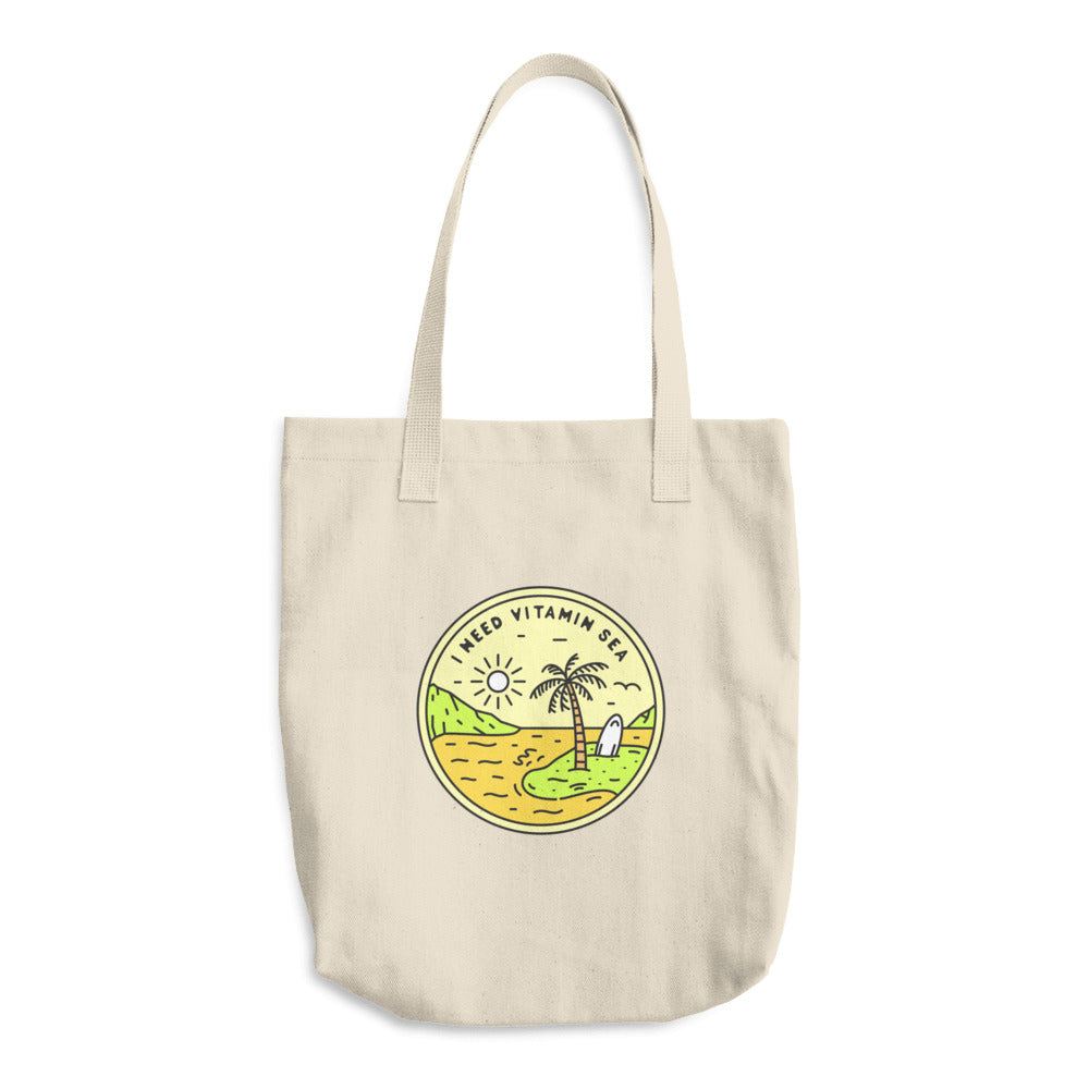 I Need Vitamin Sea Woven Cotton Tote - Sea Through Love
