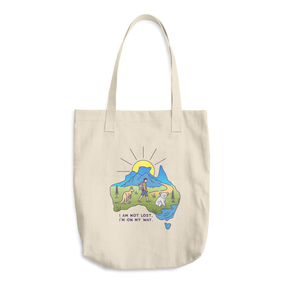 I Am Not Lost, I Am On My Way Woven Cotton Tote - Sea Through Love