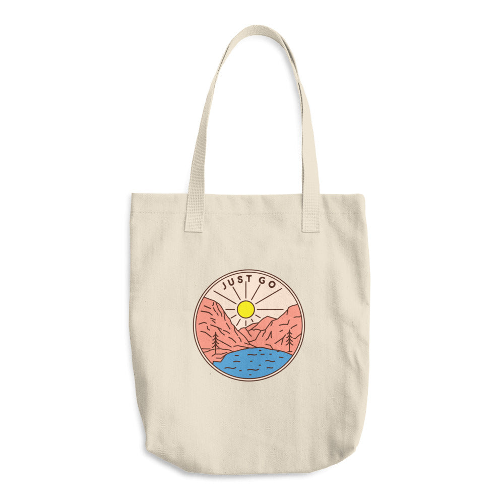Just Go Woven Cotton Tote - Sea Through Love
