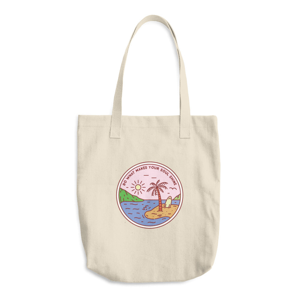 Do What Makes Your Soul Shine Woven Cotton Tote - Sea Through Love