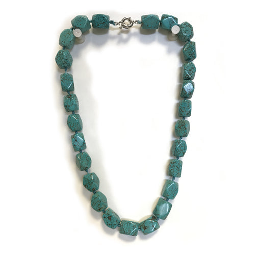 Chunky Turquoise Semi Precious Stone Necklace