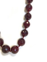 Purple Chunky Fire Gemstone Necklace