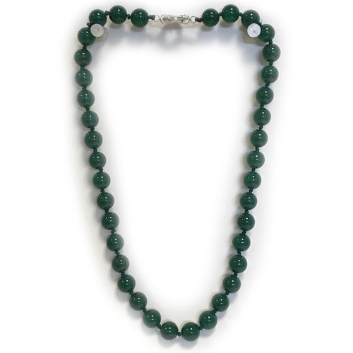 Green Semi Precious Round Bead Necklace