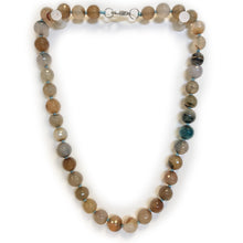 Multi Colour Semi Precious Round Bead Necklace