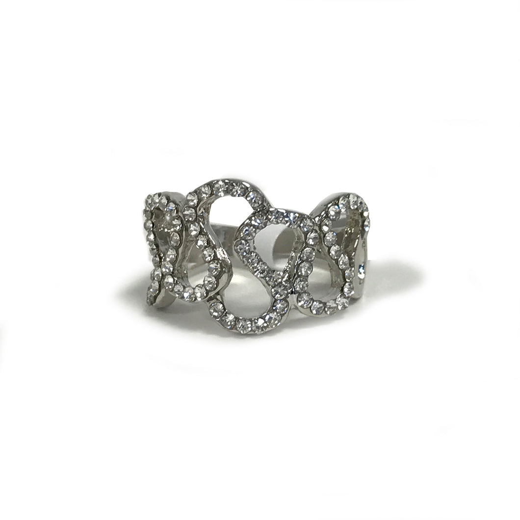 Silver Snake shaped Ring