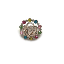 Multi Colour Circle Brooch