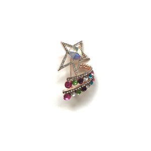 Multi Colour Star Brooch
