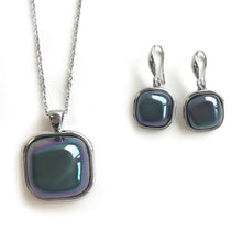Green Square shaped Pearls Set