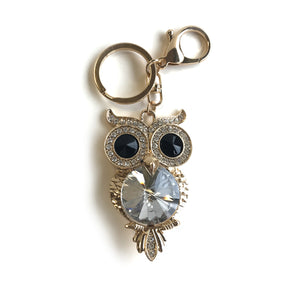 Gold and Black Owl Keyring