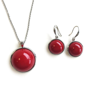 Red Circle Pearl Set
