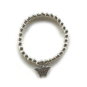 Silver Bracelet with Butterfly Charm