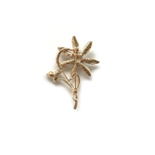 Gold Flower Brooch With Crystal flower