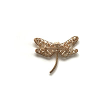 Golden Dragon Fly Brooch