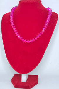 Glass Beads - Cerise Pink/8mm