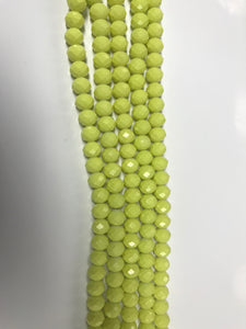 Clear Stone Beads - Matt Florescent Yellow/ 8mm