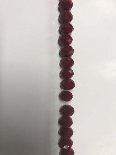 Clear Stone Beads - Burgundy/ 8mm