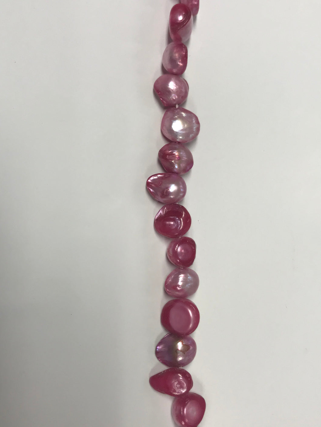 Fresh Water Pearls - Cerise Pink Shell Shape - 8mm