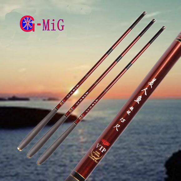 MiG NEW Ultralight Hard 3.6/4.5/5.4/6.3/7.2 Meters Stream Hand Pole Carbon Fiber Casting Telescopic Fishing Rods Fish Tackle - fishing.org