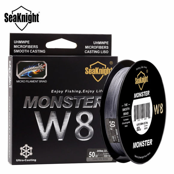SeaKnight Monster W8 300M 8 Strands Fishing Line Multifilament Fishing PE Line 8 Weaves Strong Braided Wire 20LB 40LB 80LB 100LB - fishing.org