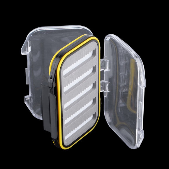 106*76*37mm Plastic Waterproof fly fishing Double Side Clear Slit Foam fly Fishing Box FLY BOX Tackle Case Box free shipping - fishing.org