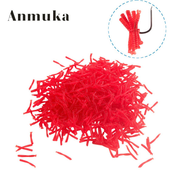 Anmuka hot-selling 200pcs Smell red worm lures 2cm soft bait carp fishing lure set artificial fishing tackle FREESHIPPING - fishing.org