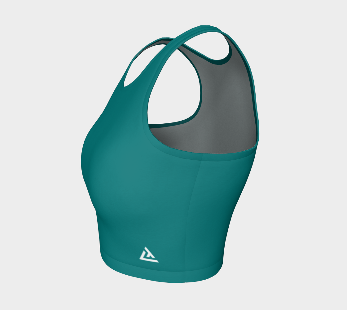 ATA Athletic Crop (Teal Lvl 2)