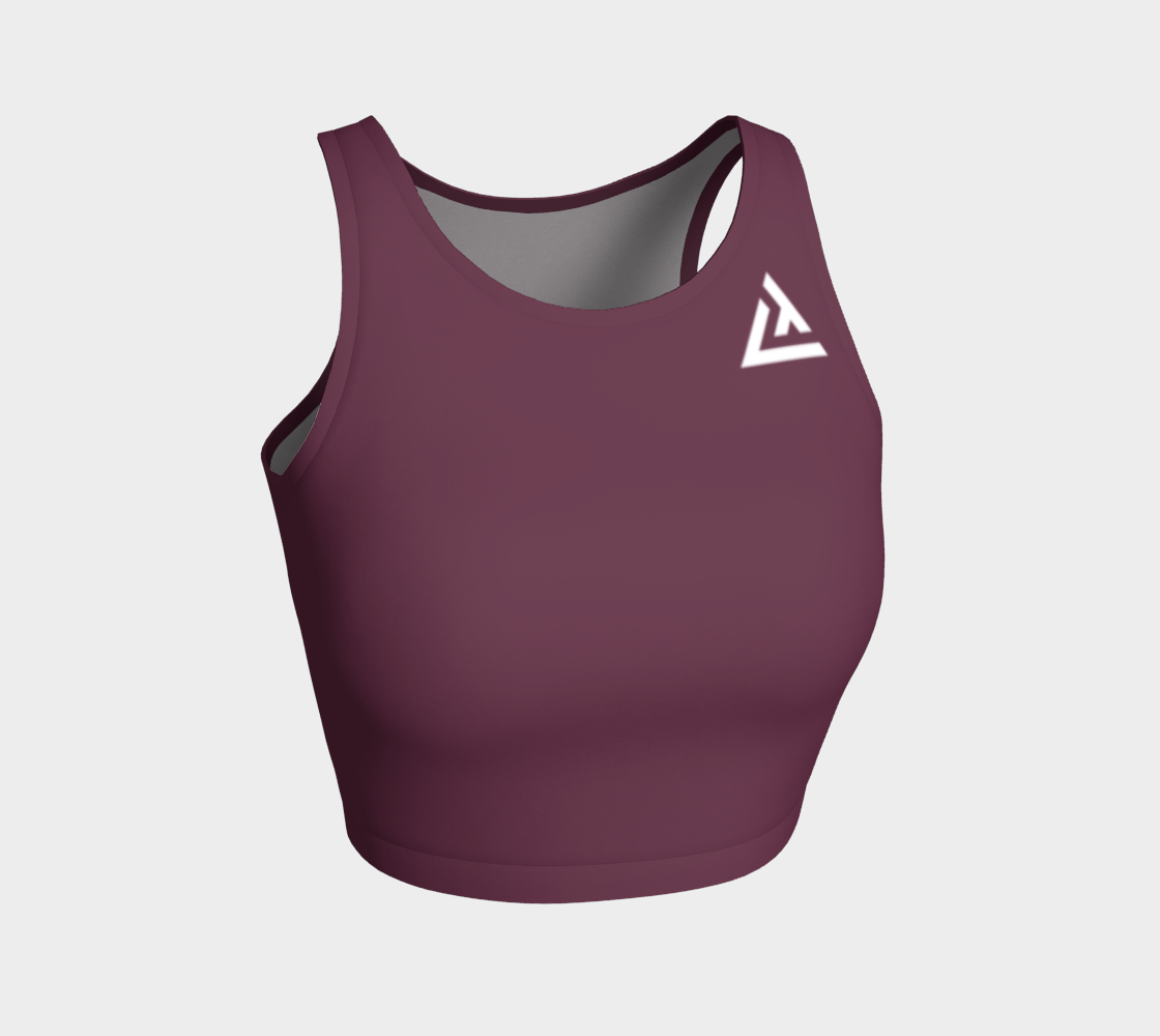 ATA Athletic Crop Top (Mauve Berry)