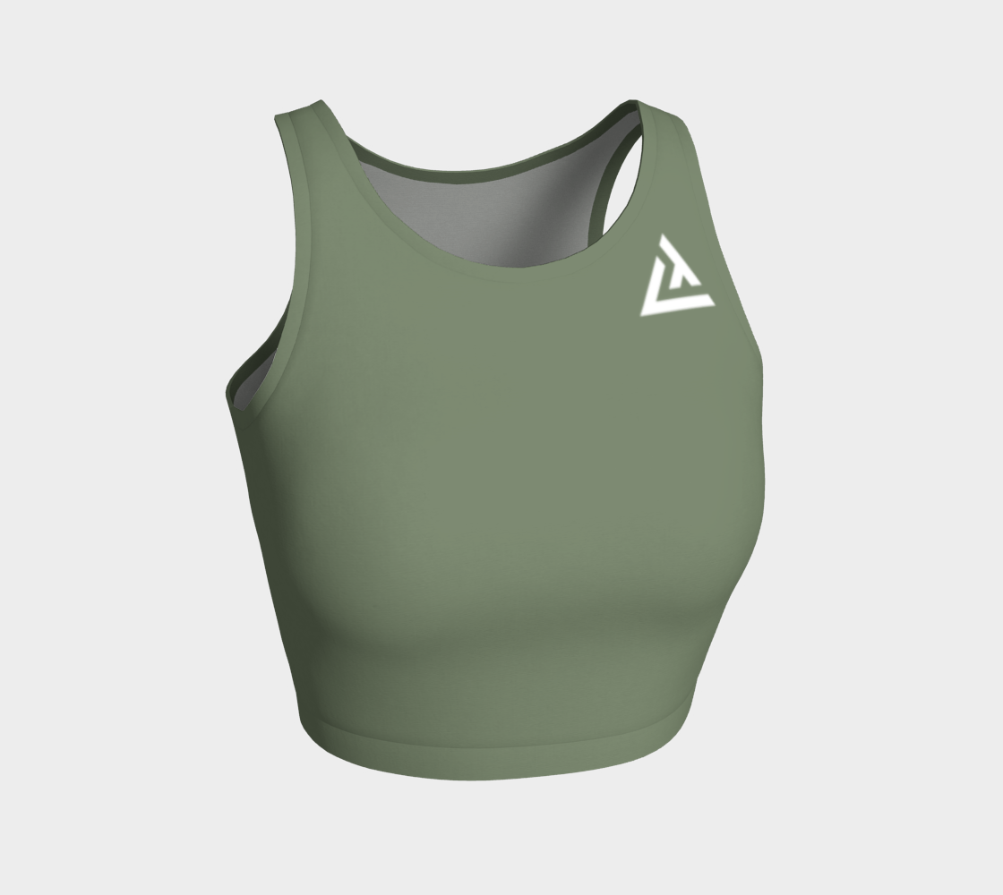 ATA Athletic Crop (Olive)
