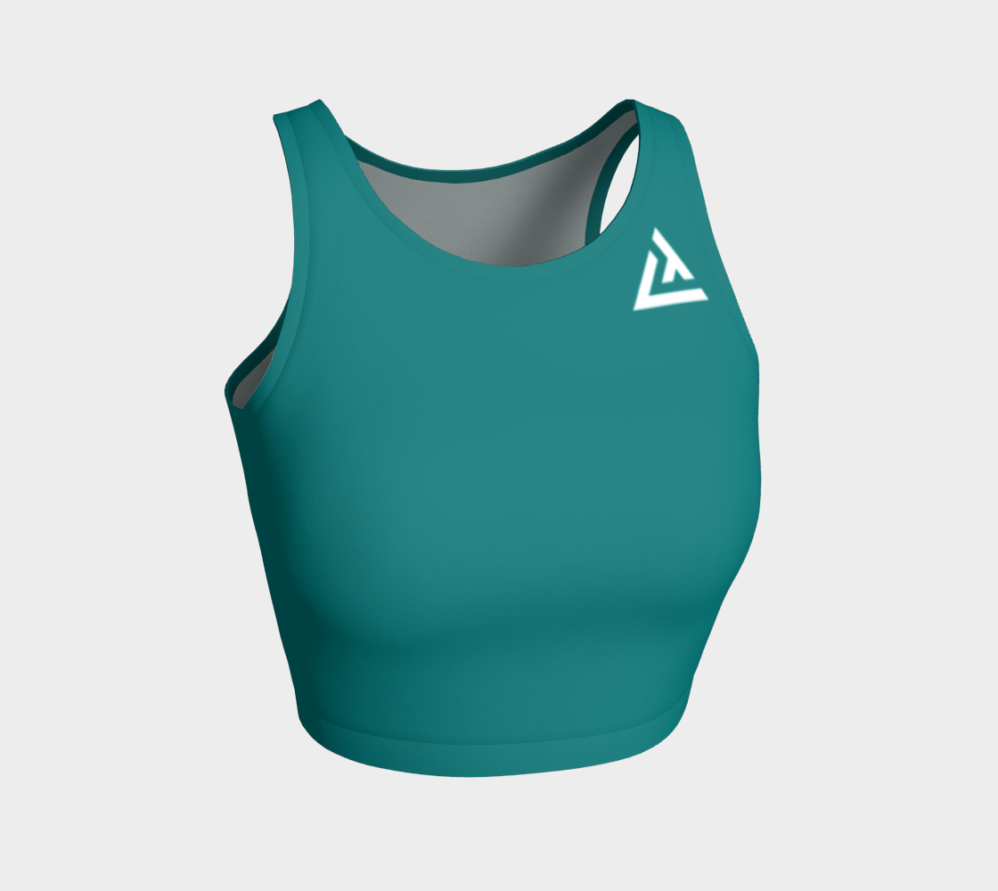 ATA Athletic Crop (Teal)