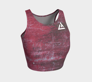 ATA Athletic Crop Top (Fierce Red)
