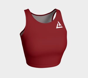ATA Athletic Crop (Blazing Red)