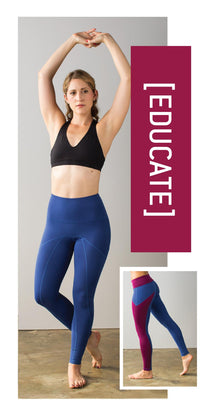 Educating abuse survivors. Ethical, organic, socially conscious yoga pant leggings that are non-pilling, non-sheer.