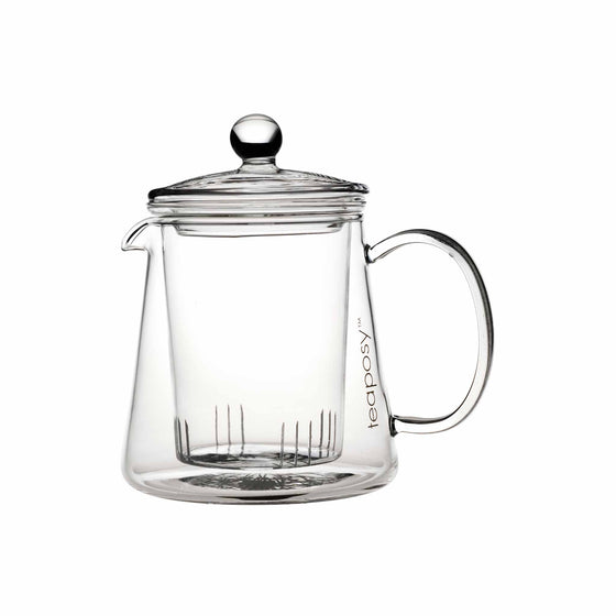 teaposy tea for two glass teapot with removable glass infuser