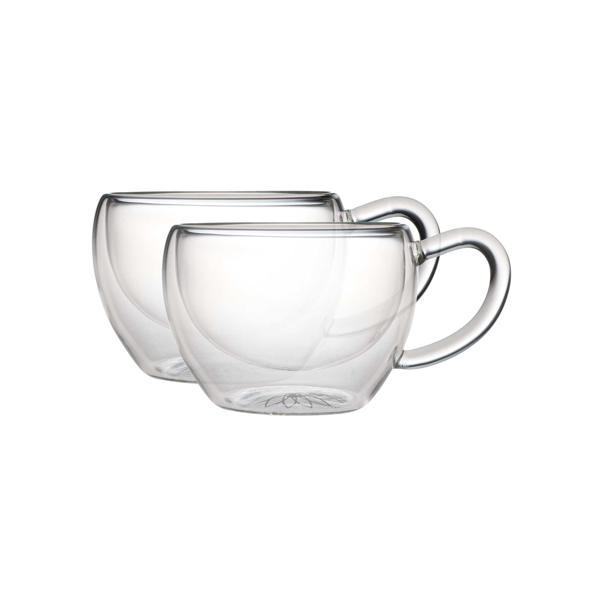 Teaposy socrates double-walled glass tea cups, set of two