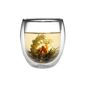 teaposy lady fairy blooming tea in rondo double-walled glass tea mug