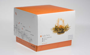 Teaposy lady fairy blooming tea, 6 silver needle flowering white teas jasmine scented packed in orange colored box