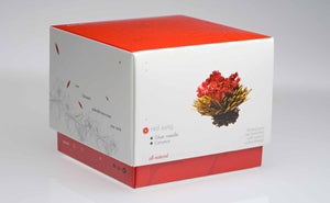 Teaposy red song blooming tea, 6 flowering white teas with carnation flowers, jasmine scented packed in a box