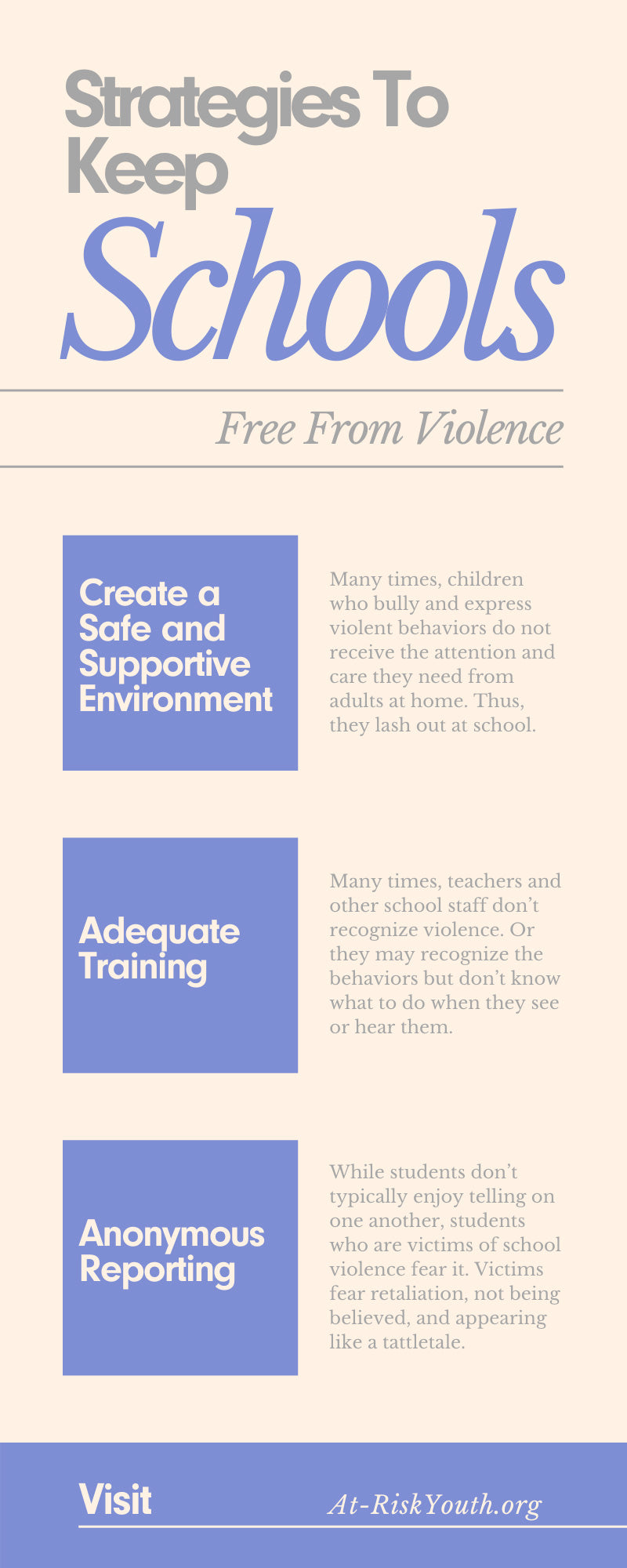 Strategies To Keep Schools Free From Violence