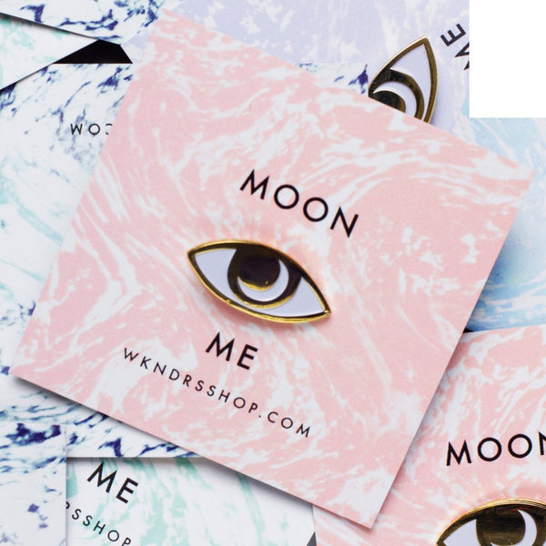 Moon Me * Gold Pin